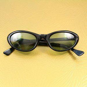 Vintage Paris France Black Cat Eye RX Sunglasses